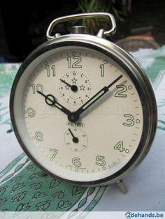 Authentieke vintage Peter, Duitse wekker, ca. jaren '60 à '70. In zeer goede staat. Werkt perfect. Houdt goed de tijd (ca. + 1 minuut in 24 uur= goed,...