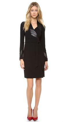 Diane von Furstenberg Glam with Leather Dress [totally work appropriate]