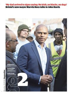 Guardian g2 cover: Marvin Rees (new mayor of Bristol)
