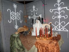 Haunted House Sets  Here is a room we did for a local Haunted House in Chicago.  Voodoo Witch Room.  Blood Brood FX