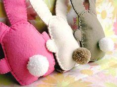 Handmade felt bunnies....