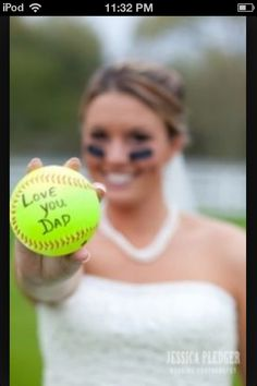 Softball wedding picture!