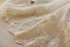 retro embroidery lace fabric trim floral trim lace by Retrolace