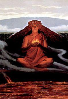 Pele - volcano goddess