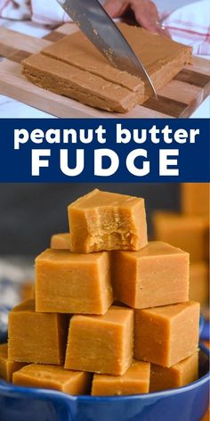 This super simple recipe for Peanut Butter Fudge is AMAZING! Fudge Recipes, Dessert Recipes, Cold Desserts, Fancy Desserts, Christmas Cooking, Christmas Sweets, Homemade Fudge, Low Carb Chicken Recipes, Tasty Videos