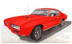 1968 Pontiac GTO - Jack Pumphrey Art