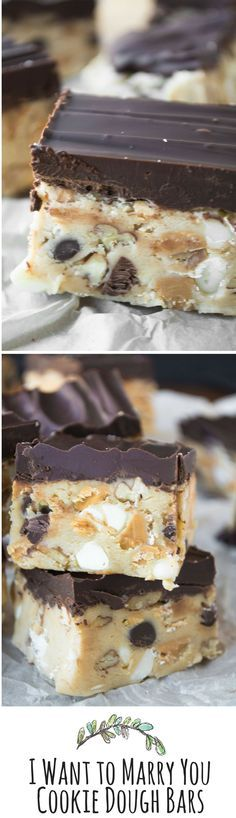 These no-bake bars are the answer to your cookie dough lovin' prayers!!