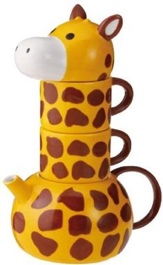 Amazon.com: Giraffe Tea Set For Two: Kitchen & Dining