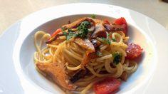 Recetas Maset del Lleó: Espaguetis con Rovellons (Níscalos)
