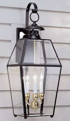 Norwell Lighting 1067-BL-BE Olde Colony 3 Light Outdoor Wall Sconce In Black With Beveled Glass Outdoor Wall Lantern, Outdoor Wall Sconce, Outdoor Wall Lighting, Living Room Lighting, Wall Sconce Lighting, Outdoor Walls, Home Lighting, Unique Lighting, Kitchen Lighting