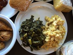 Mac & cheese and collard greens at D.C.'s Woodlands Vegan Bistro