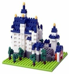Nanoblock Architecture - Cinderella's Castle (Neuschwanstein Castle) by Kawada. $22.90. Micro-sized building blocks- 1/8th the size of a standard building block. Includes everything you need to create a beautiful Cinderella's Castle. Neushwanstein Castle. Nanoblock is a micro sized building block that is just 1.8th the size of a standard building block. The smallest part is a mere 4x4x5mm!  Double ridged backing makes the small size possible. Despite its micro size, Nanoblock is...