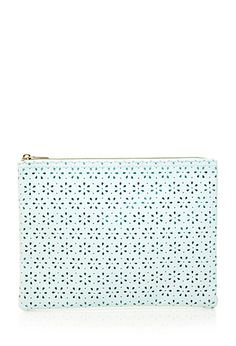 Floral Perforated Makeup Pouch  fa536347b5a39