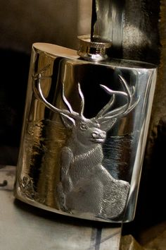 Monarch Stag 6oz Pewter Hip Flask by HipFlasks on Etsy, $74.00