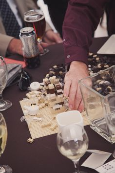 Or if Legos are more your jam, set some up as centerpieces people can build…