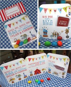 Circus Invitations    Superbe !