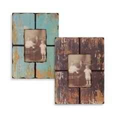 Barnwood Distressed Wood Frame - Bed Bath & Beyond (Shelfs in living room)