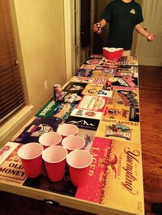 Beer Case Beer Pong Table | The Cooler Connection on Pinterest