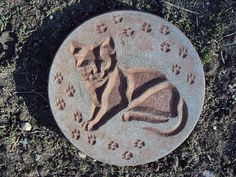 Cat Stone Wall Hanging Inside Outside by MountainArtCasting