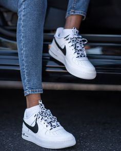 I will be the first to admit that I am serious sneaker addict. This month's purchase are these Nike Airforce 1 sneakers. When I am looking for new sneakers (or if I stumble across them through no… New Sneakers, Air Max Sneakers, Sneakers Fashion, Fashion Shoes, Sneakers Nike, Nike Trainers, Sneakers Women, Shoes Women, Fashion Dresses