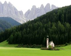 St. John's Church, Val di Funes, Italy.  What a beautiful place!