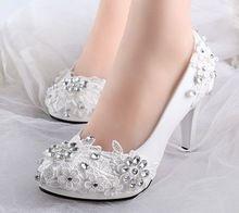 Baixo sapatos de salto alto de noiva sapatos de casamento strass branco bombas sapato de noiva de renda para a primavera verão sapatos XNA da dama de honra 242(China (Mainland))