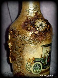 декупаж, декор бутылок Decoupage/2013