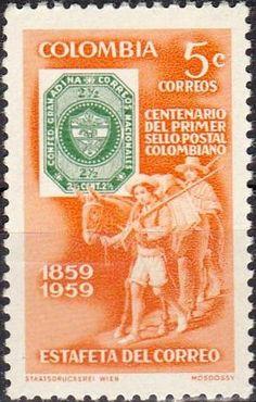 Bélyeg: 100 years Colombian stamps (Kolumbia) (Bélyegek) Mi:CO 884,Sn:CO 709,Yt:CO 572