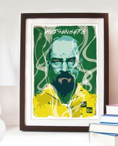 Heisenberg portrait Breaking Bad Poster A4/A3/A2/A1 -TV Serie Illustration Walter White. #art #artwork #design #walterwhite #heisenberg #breakingbad #posterdesign #geek