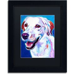 Trademark Fine Art Llewellin Setter Cheetah Canvas Art by DawgArt, Black Matte, Black Frame, Size: 16 x 20