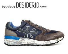 DESIDERIO boutique - PREMIATA MICK 2341 sneaker uomo camoscio grigio blu  autunno inverno 2017 2018 www 24f28e5b511