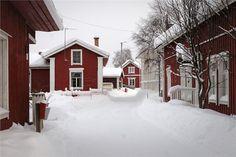 Winter in Iin Hamina. Northern Ostrobothnia, Finland. - Pohjois-Pohjanmaa - Norra Österbotten Scandinavian Countries, Finland, Winter Wonderland, Southern, Home And Garden, Houses, Country, Places, Life