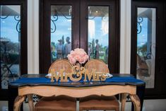 1- French table- for sweetheart table, sign in, gift, cake, or favors