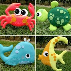 Felt fishing set Eco-friendly educational toy Toddler fish game with fishing pole Sea creature Kids magnetic game Sea animals Felt Patterns, Stuffed Toys Patterns, Felt Crafts, Diy And Crafts, Felt Fish, Sewing Projects, Projects To Try, Felt Monster, Felt Baby