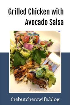 Grilled Chicken topped with melty pepper jack cheese and fresh avocado salsa! Food Out, Good Food, Shrimp On The Barbie, Smoking Food, Smoke Grill, Fresh Avocado, Pepper Jack Cheese, Smoker Recipes, Types Of Food