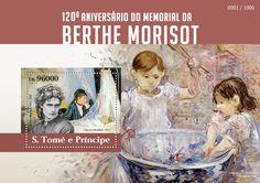 São Tomé and Príncipe post stamp ST 15303 b120th anniversary of Berthe Morisot (1841–1895. The cradle, 1872)