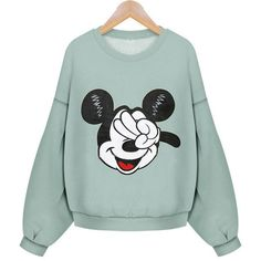 Mickey Deuces Sweatshirt Outfit Made ($28) ❤ liked on Polyvore featuring tops, hoodies, sweatshirts, shirts, sweaters, green sweatshirt, cotton sweatshirt, sweatshirt shirts, mickey mouse top and mickey mouse sweatshirt