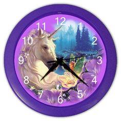 Purple Unicorn Fairy Design Plastic 10 Inch Wall Clock Blue Skies Plus http://www.amazon.com/dp/B00HX3RDCA/ref=cm_sw_r_pi_dp_70ePub1F24580