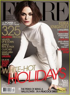 keira knightley covers flare magazine december 2012