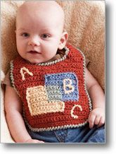 Simply Bibs Lisa Naskrent creates two variations on a theme—both as simple as 1-2-3, A-B-C. Practice color-changing skills as you work these up, then make more with your own designs (P14).