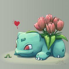 Tulip Bulbasaur has found a… friend