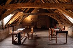 One of the attic rooms where Niépce also did some of his shooting and chemical work. Photo by Francis Demange/Gamma, courtesy of Pierre-Yves...
