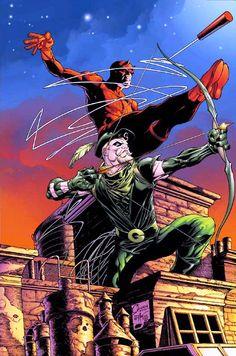 Green Arrow & Daredevil by Joe Quesada
