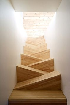Alternating Tread Staircase by TAF Arkitektkontor: Beautiful solution for tight spaces.