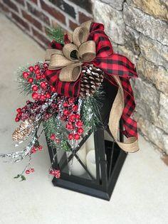 XL Large christmas lantern swag winter lantern swag holiday   Etsy Christmas Holidays, Christmas Tops, Black Christmas, Christmas Movies, Reindeer Christmas, Christmas Ornaments, Burlap Christmas, Christmas Vacation, Christmas Carol