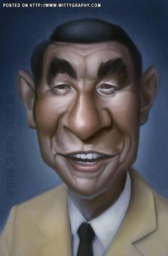 Howard Cosell by Ted Miller