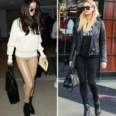 O estilo rocker fashion, inspirador da Selena Gomez, numa combinação black + pastel. E da Hailey Baldwin num look #allblack.♥️💥 #selenagomez #haileybaldwin #creative #fashion #rocker #styles