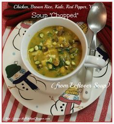 #Chicken, #BrownRice, #Kale, #Redpepper, #Yam, #Soup #Chopped / The Kitchen Chopper