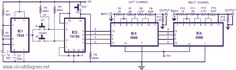 In this digital volume control circuit, the IC1 timer 555 is set up as an astable flip-flop to deliver low-frequency pulses to up/down clock input pins of pre-setable up/down counter 74LS193 (IC2) …