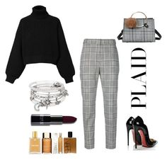 """""""Plaid"""" by catlovaa56 ❤ liked on Polyvore featuring Alex and Ani, Alexander Wang, Diesel and Christian Louboutin"""